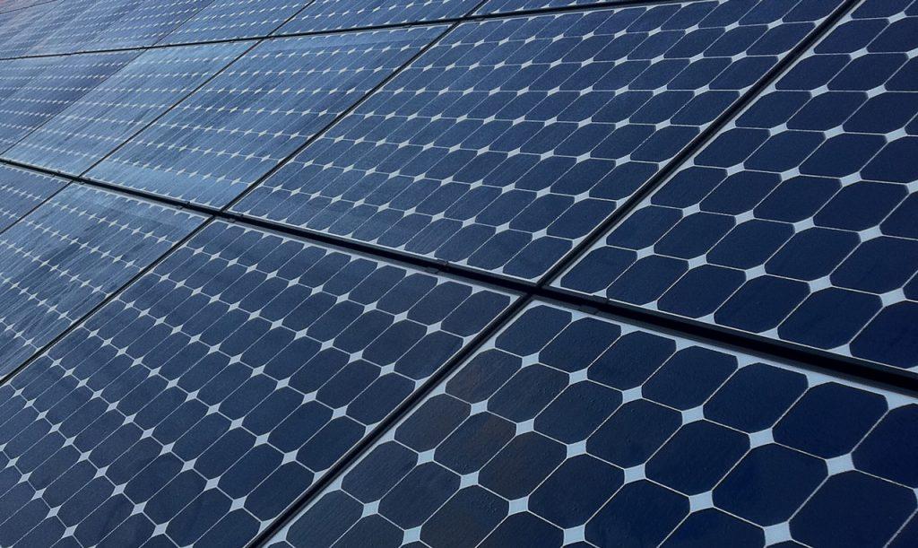 Solarpanele einer Photovoltaik-Anlage